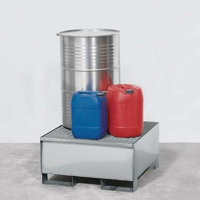 Sump with hotdip galvanized grid