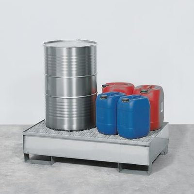 Sump with stainless steel grid